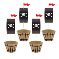 Set wrappers de fiesta Pirata - 6 unidades