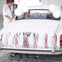 Kit decorativo para coche Just Married