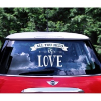 Adhesivo para coche All You Need is Love de 33 x 45 cm - 1 unidad