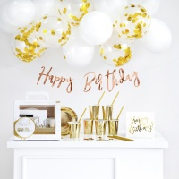 Pack de mesa dulce de Happy Birthday Golden - 60 piezas