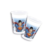 Vasos de Superman de 200 ml - 8 unidades