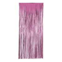 Cortina decorativa rosa - 1,00 x 2,40 m