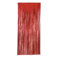 Cortina decorativa roja - 1,00 x 2,40 m