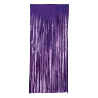 Cortina decorativa morada - 1,00 x 2,40 m