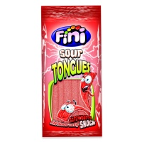 Lenguas de fresa con pica pica - Fini sour tongues - 100 g