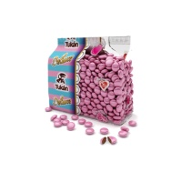 Grajeas de chocolate con leche color rosa - 450 g