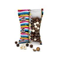 Mini bolas de cereal recubiertas de 3 chocolates - 85 g
