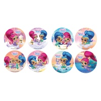 Mini disco de azúcar de Shimmer and Shine de 3,4 cm - 16 unidades