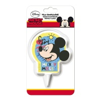 Vela decorativa de Mickey Mouse 7,5 - 1 unidad