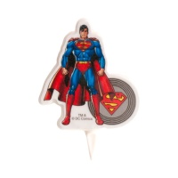 Vela decorativa de Superman de 8 cm - 1 unidad