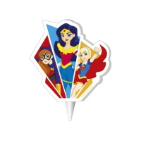 Vela decorativa de Super Hero Girls de 7,5 cm - 1 unidad