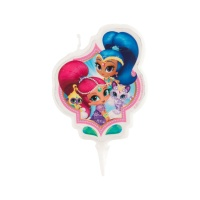 Vela decorativa de Shimmer and Shine de 7,5 x 6 cm - 1 unidad