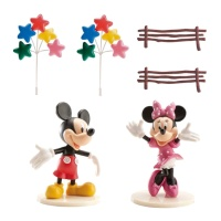 Decoración para tarta de Mickey y Minnie Mouse - 6 unidades