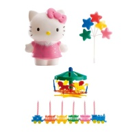Decoración para tarta de Hello Kitty con velas - 15 unidades