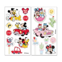 Obleas recortables de Mickey y Minnie - 18 unidades