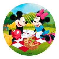 Oblea comestible de Mickey y Minnie Mouse - 20 cm
