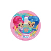 Oblea comestible de Shimmer and Shine - 20 cm