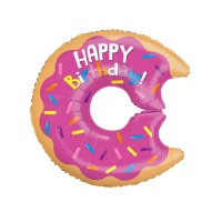 Globo silueta XL de Donuts happy birthday - 71 cm