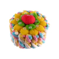 Tarta de chuches mini de nubes multicolor - 250 g