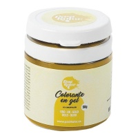 Colorante concentrado en gel color oro de 35 g - Sweetkolor
