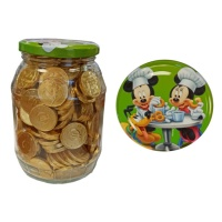 Monedas de chocolate en bote de Mickey y Minnie Mouse - 250 unidades