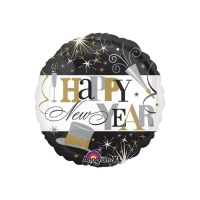 Globo redondo de Happy New Year de 45 cm - Anagram