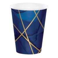 Vasos de Navy and Gold de 354 ml - 8 unidades