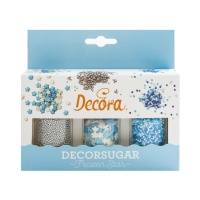 Kit de sprinkles azules de 78 g - Decora