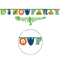 Guirnalda de Dino Party personalizable de 2,3 m