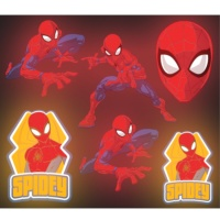 Pegatinas Spiderman brillantes