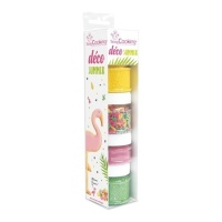 Kit de sprinkles y colorante tropical de 90 g - Scrapcooking