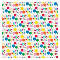Papel de regalo de Happy Birthday blanco de 1,52 x 0,76 m
