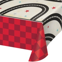 Mantel de papel de Vintage Race Car de 1,37 x 2,59 m