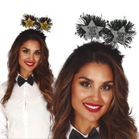 Diadema con plumas de Happy New Year