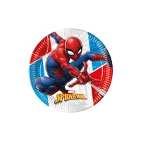 Platos de Spiderman compostables de 19,5 cm - 8 unidades