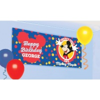 Mural decorativo personalizable de Mickey Mouse - 0,45 x 1,2 m