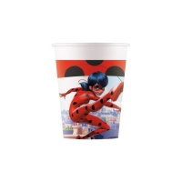 Vasos de Ladybug en acción compostables de 200 ml - 8 unidades