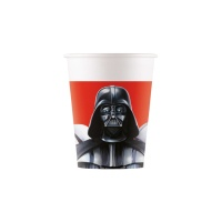 Vasos de Star Wars Darth Vader de 200 ml - 8 unidades