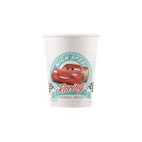 Vasos de Cars compostables de 200 ml - 8 unidades