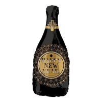 Globo silueta XL de botella de cava Happy New Year de 91 x 35 cm - Anagram