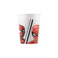 Vasos de Spiderman compostables de 200 ml - 8 unidades