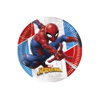 Platos de Spiderman compostables de 23 cm - 8 unidades